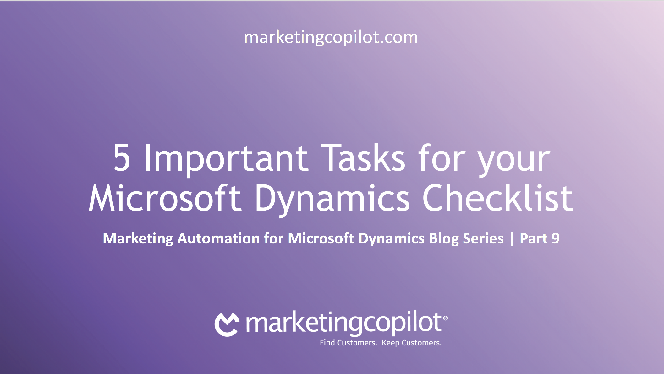 5 Important Tasks for your Microsoft Dynamics Checklist
